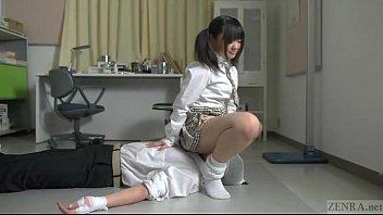 subtitled japanese student vagina-throttling salvation