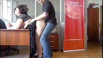 insatiable plumper cougar romped at the office by.