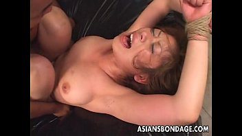 trussed up japanese stunner gets romped lengthy and.
