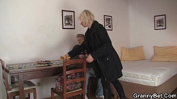 blond elderly gals satiates an youthfull.