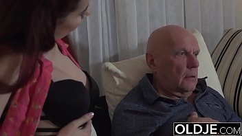 sugar daddy smashes step-stepdaughter cock-wringing slit goes deep.