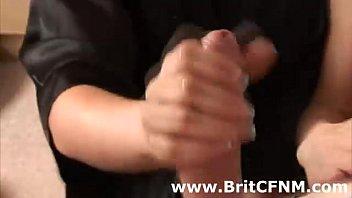 bad brit women providing a cfnm stud a hj