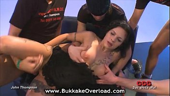 tatted dark-hued-haired getting group screwed