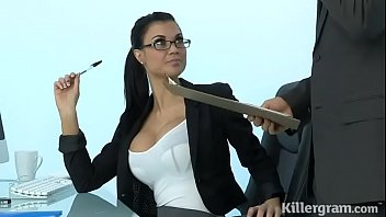 steaming cougar jasmine jae plays the wondrous office.