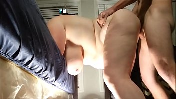plus-size cougar cuckold on her husband with a.