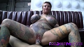 tatted mature screwed on pool table