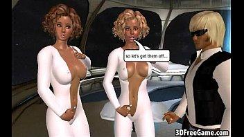 these two stellar three dimensional humungous boob ash-blonde.