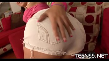 lustful teenie stunner gets a ample spear to.