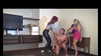 sadomasochistic gals invite boy over to take advantage.