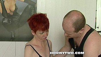 lean red-haired insane mature slit deep-gullet a youthful.