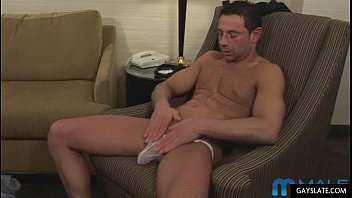steamy mature muscle stud plays with.
