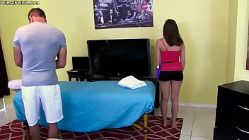 charli asks daddy to practice rubdown