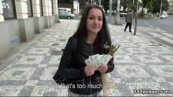 czech splendid whore screw in public for currency 17