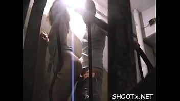 suspended stud bonks his gf whilst she gasps.