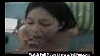 youthfull indian woman smash rock hard.