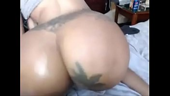 tatted dark-hued anal penetration getting off on web.