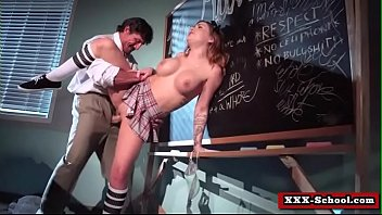 massive breast college girl and lecturer ravaged rigid.